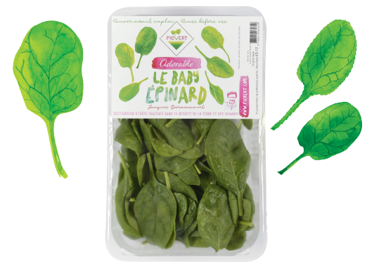 The baby spinach